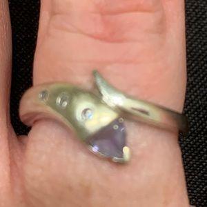 Tanzanite and Diamond fashion ring